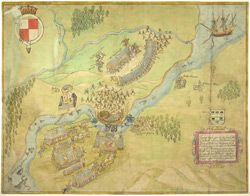 A Coloured Representation of the Battle of Ballishannon, Fought on the 17th of October 1593